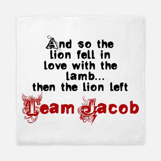 Team Jacob The lion left Queen Duvet