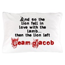 Team Jacob The lion left Pillow Case