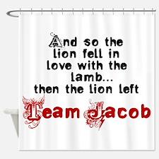 Team Jacob The lion left Shower Curtain