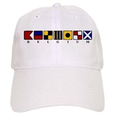 Nautical Belgium Baseball Cap