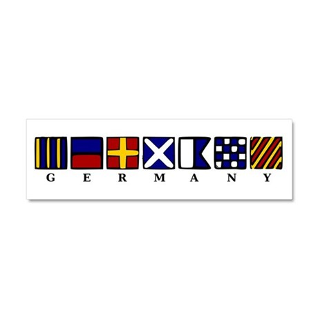 Nautical Germany Car Magnet 10 x 3