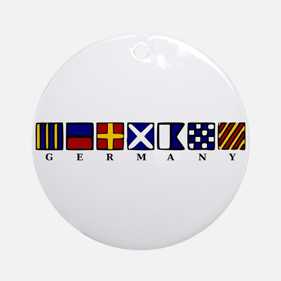 Nautical Germany Ornament (Round)