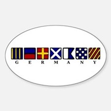 Nautical Germany Sticker (Oval)