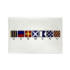 Nautical Germany Rectangle Magnet (10 pack)