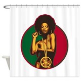 African american peace Shower Curtains