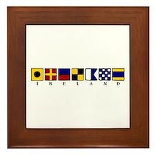 Nautical Ireland Framed Tile