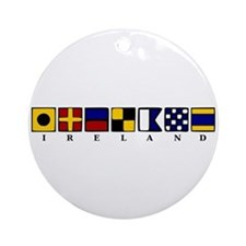 Nautical Ireland Ornament (Round)