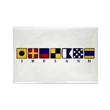 Nautical Ireland Rectangle Magnet