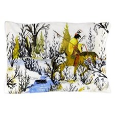 Native American Winter Warrior Pillow Case