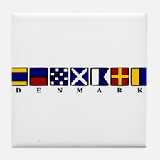 Nautical Denmark Tile Coaster
