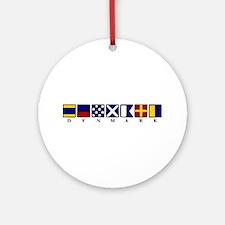 Nautical Denmark Ornament (Round)