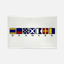Nautical Denmark Rectangle Magnet