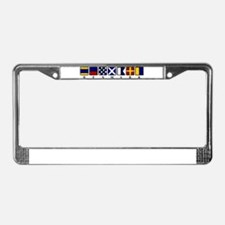 Nautical Denmark License Plate Frame