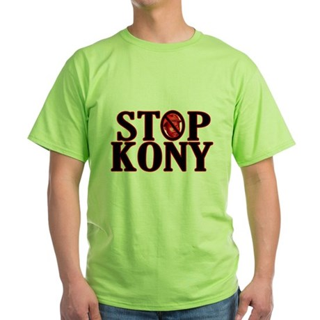 STOP KONY! Green T-Shirt