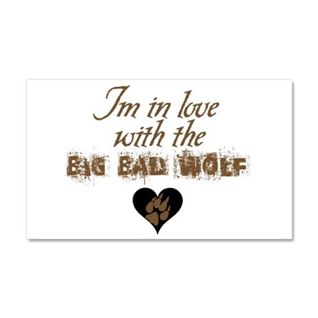 In love with big bad wolf Car Magnet 20 x 12