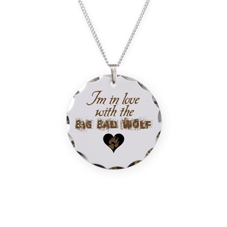 In love with big bad wolf Necklace Circle Charm