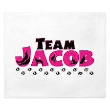 Team Jacob pink & black King Duvet