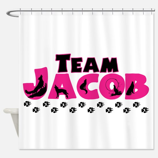 Team Jacob pink & black Shower Curtain