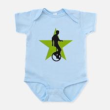 Cute Evolution of man biker Infant Bodysuit