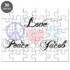 Peace love Jacob Black Puzzle