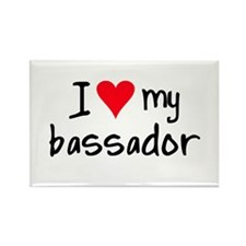 I LOVE MY Bassador Rectangle Magnet