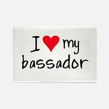 I LOVE MY Bassador Rectangle Magnet