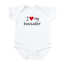I LOVE MY Bassador Onesie