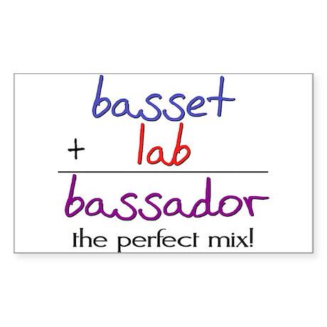 Bassador PERFECT MIX Sticker (Rectangle)