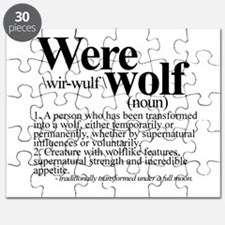 Definition of a werewolf Team Puzzle