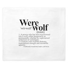 Definition of a werewolf Team King Duvet