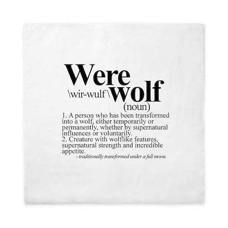 Definition of a werewolf Team Queen Duvet