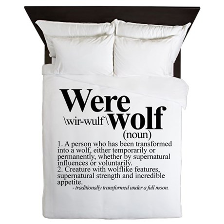 Definition Of A Werewolf Team Queen Duvet By Sweetsisters