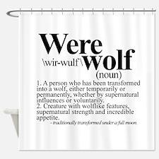 Definition of a werewolf Team Shower Curtain