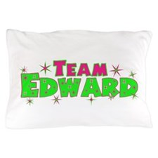Team Edward pink green Pillow Case