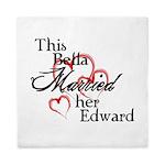 Bella married Edward Queen Duvet