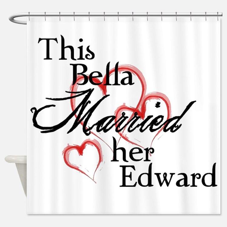 Bella married Edward Shower Curtain