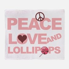Peace love & Lollipops Throw Blanket