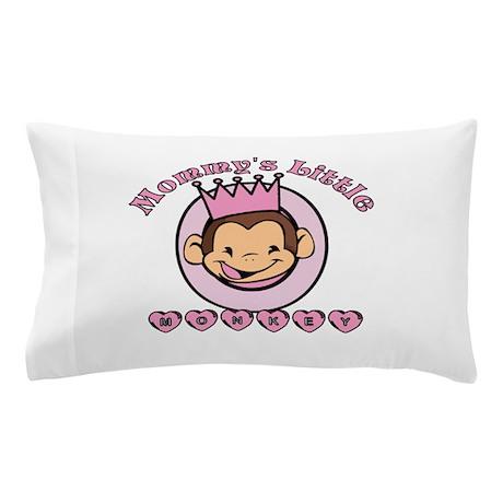 Mommy's Little Monkey (girl) Pillow Case