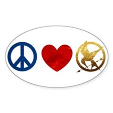 Peace, Love, Hunger Games Stickers