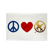 Peace, Love, Hunger Games Rectangle Magnet
