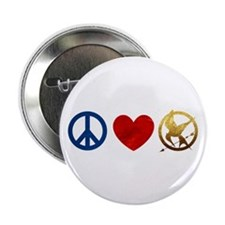 "Peace, Love, Hunger Games 2.25"" Button (10 pack)"