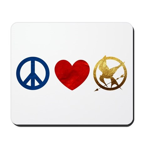 Peace, Love, Hunger Games Mousepad