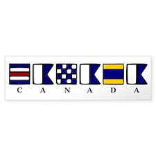 Nautical Canada Bumper Sticker