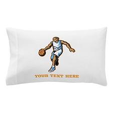 Basketball. Custom Text. Pillow Case