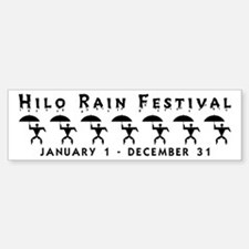 Hilo Rain Festival Bumper Bumper Bumper Sticker