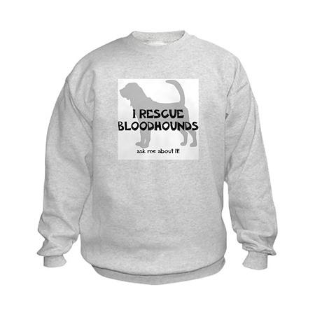 I RESCUE Bloodhounds Kids Sweatshirt