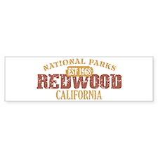 Redwood National Park CA Bumper Sticker