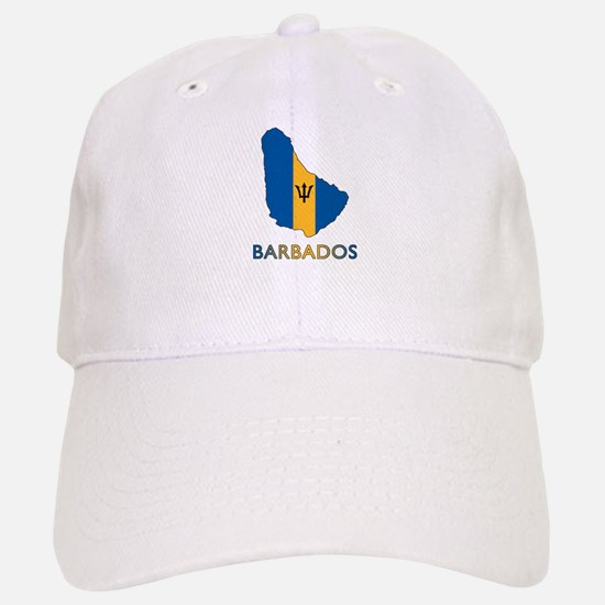 Map Of Barbados Baseball Baseball Cap