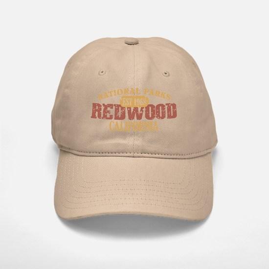 Redwood National Park CA Baseball Baseball Cap