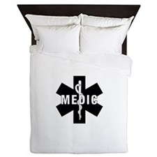Medic EMS Star Of Life Queen Duvet